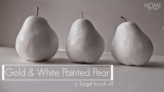 Gold and White Painted Pears