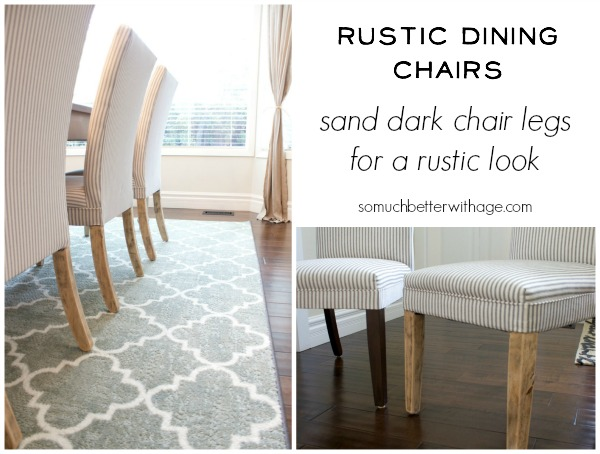 DIY Rustic Dining Chairs