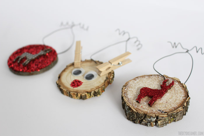 Cutest Christmas Ornaments EVER!!! Rudolph The Red Nosed Reindeer Wood Slice Ornament made by a kid!