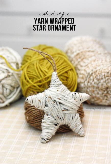 Yarn Wrapped Star Ornament