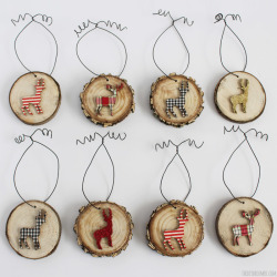 Deer Wood Slice Ornaments. Adds a beautiful touch to your Rustic Themed Christmas Decor!