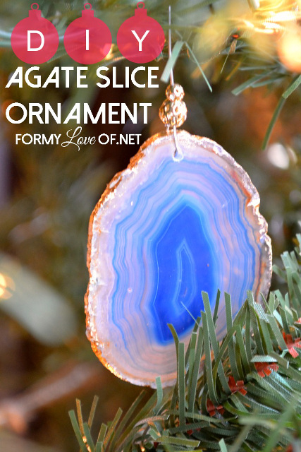 DIY Agate Slice Ornaments