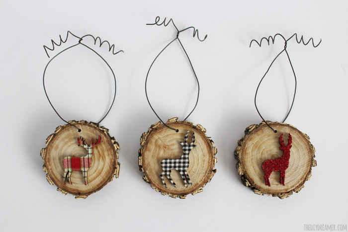 Deer Wood Slice Ornaments. Adds a beautiful touch to your Rustic Themed Xmas Decor!