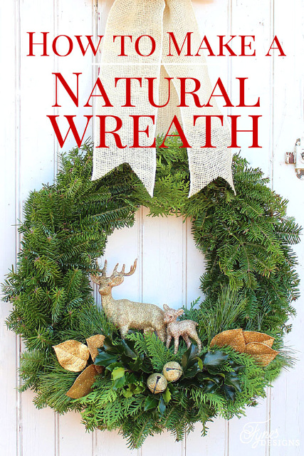 How to make a Traditional Christmas Wreath - Natural Wreath