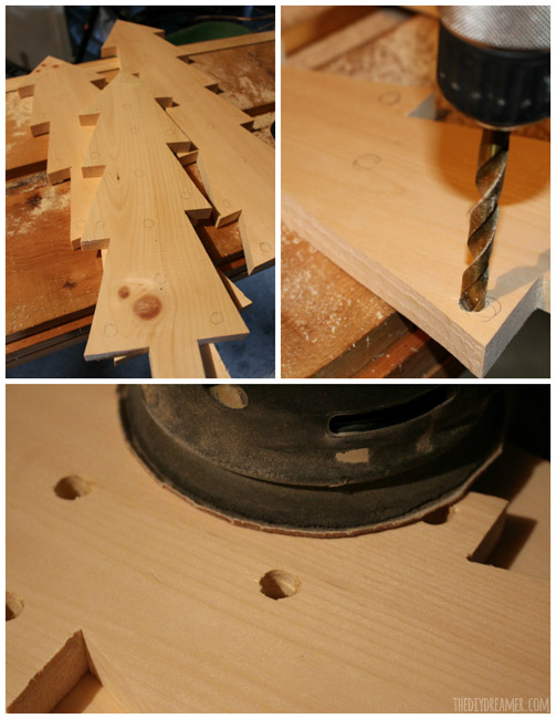 How to drill holes in wood