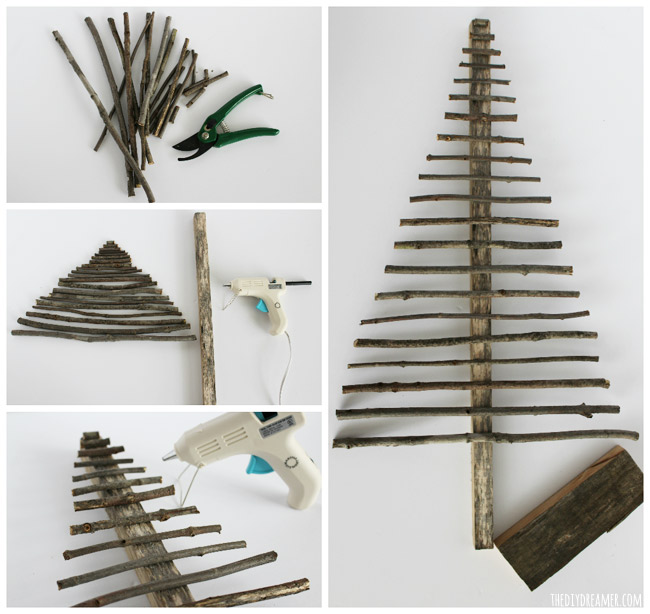 Easy decorative twig christmas tree christmas decor Christmas trees made out of wood
