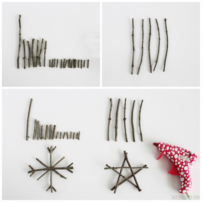 How to make twig ornaments - Rustic Christmas Ornaments