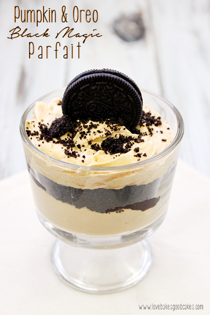 Pumpkin and Oreo Black Magic Parfait