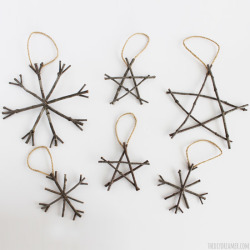 Rustic Twig Christmas Ornaments - Super Easy!