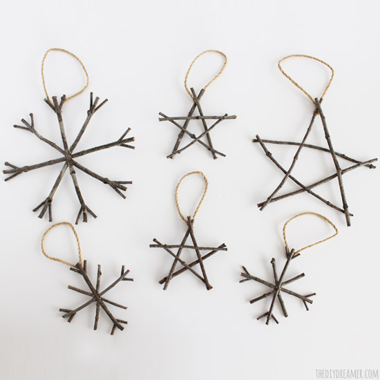 Rustic Twig Christmas Ornaments – Rustic Christmas Ideas!