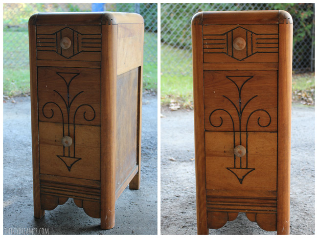 Vintage wood nightstand - Come see the FABULOUS makeover!