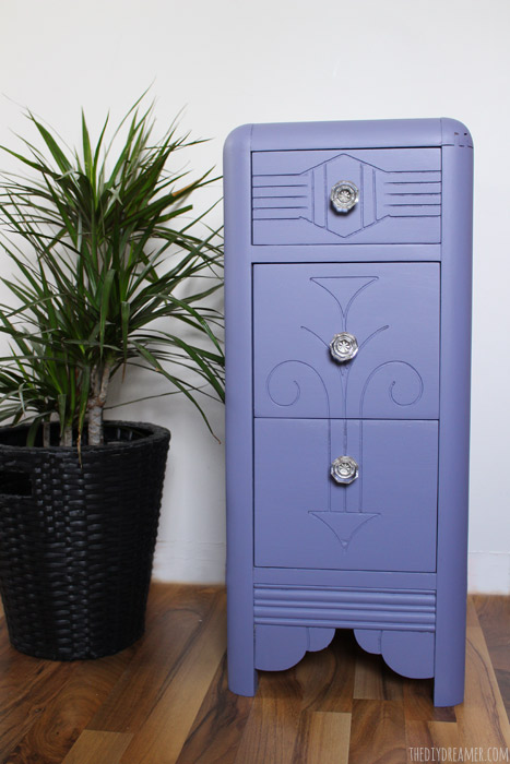 Stunning Piece!! Quick and Easy Vintage Nightstand Makeover - Vibrant New Look!