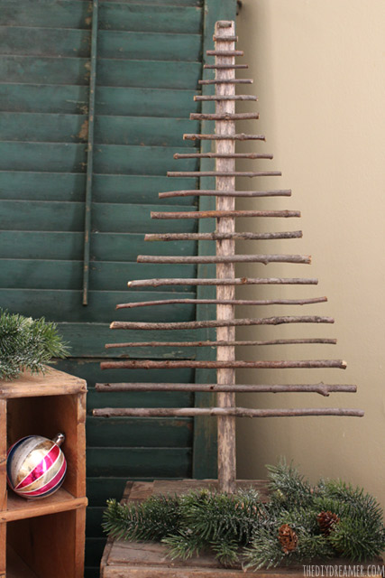59 Incredibly Simple Rustic Décor Ideas That Can Make Your: Easy Decorative Twig Christmas Tree