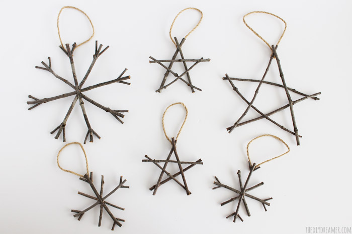 Rustic Twig Ornaments - Ornaments that are super easy to make!
