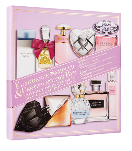Fragrance Sampler and Certificate Collector's Edition For Her ( New & Exclusive)