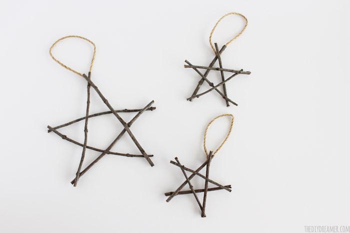Rustic Twig Christmas Ornaments Rustic Christmas Ideas - Diy copper stars for christmas decor