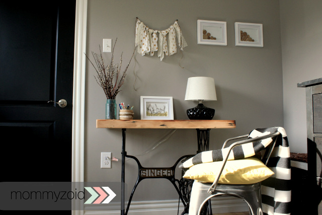 DIY Singer Sewing Table to a Desk
