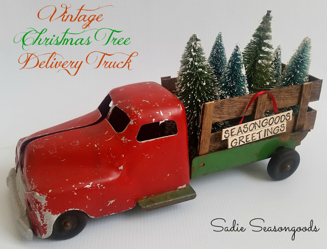 Vintage Christmas Tree Delivery Truck