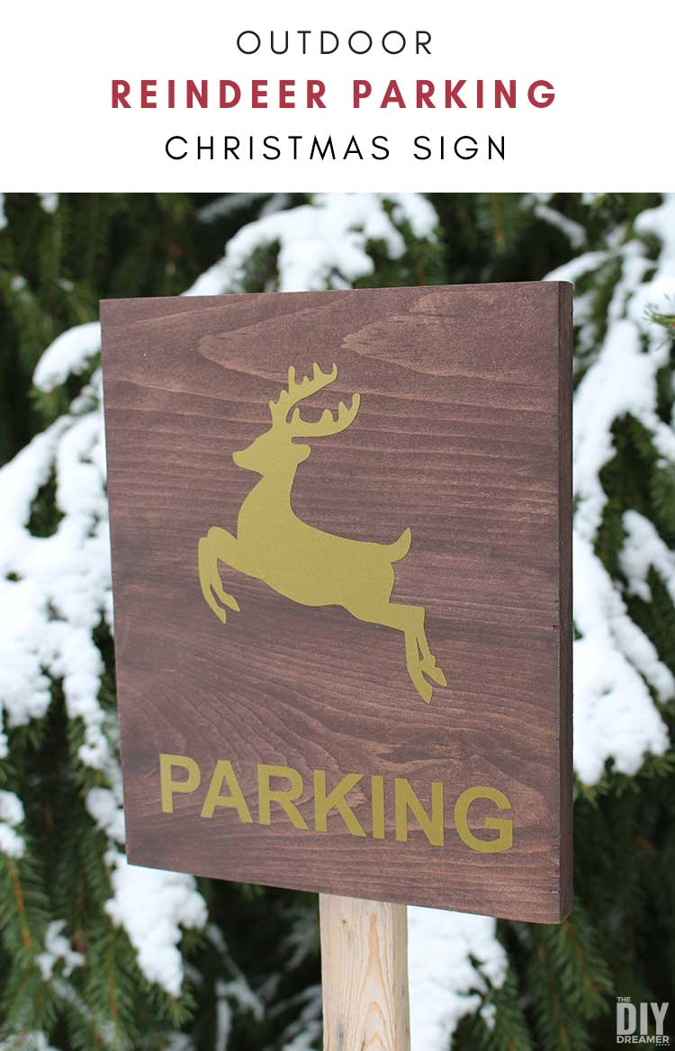 Reindeer Parking Sign! Looking for a way to tell Santa where you'd like him to park his sleigh so that your kids can leave food for the reindeer? Make a Reindeer Parking sign