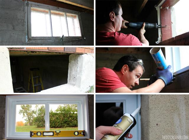 DIY Basement Window Installation