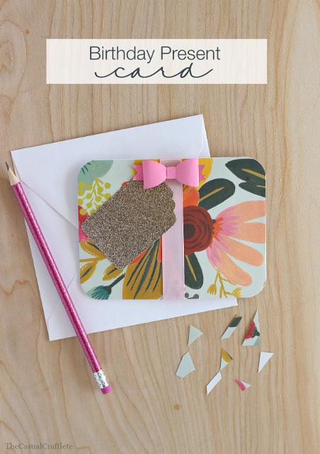 Birthday Present Card - Paper Craft