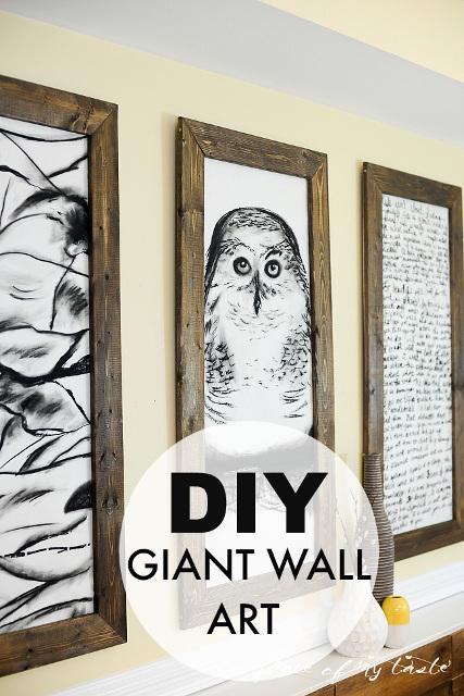 DIY Giant Wall Art