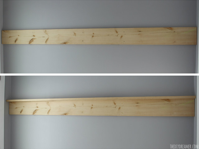 DIY Wood Shelf