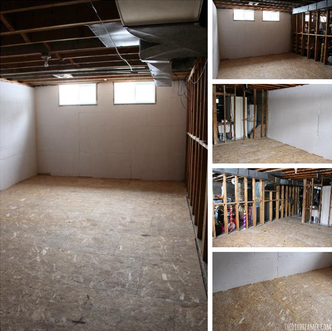 Basement Floor Is Damp: Basement Renovation: DRIcore Subfloor Installation