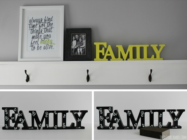 DIY Wood Family Sign