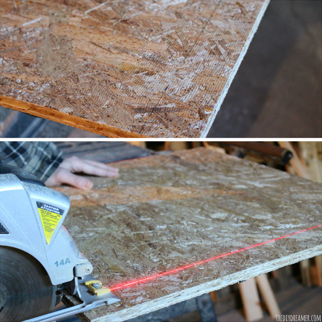 How to cut Subfloor.
