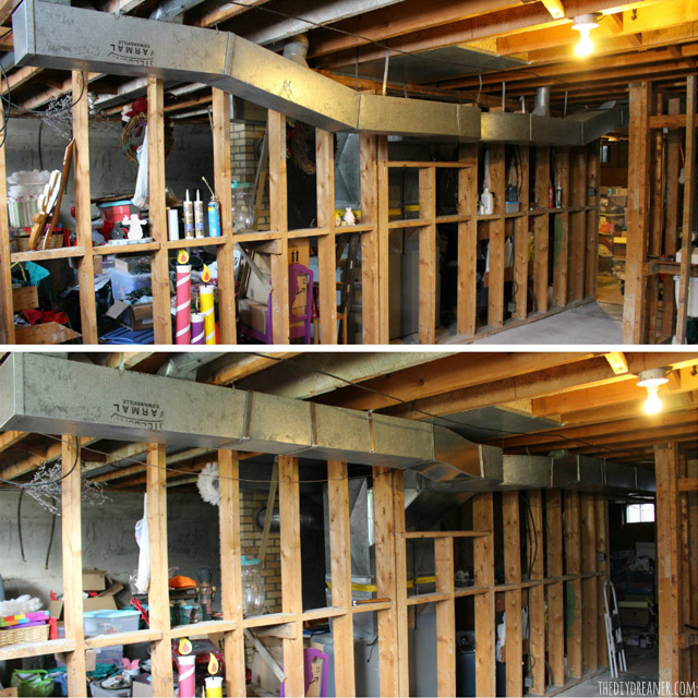 How to raise basement ductwork to gain ceiling space.