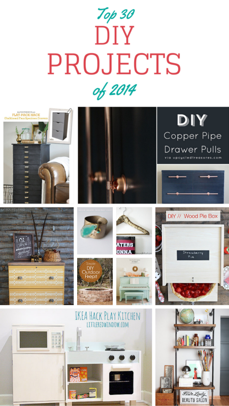 Top 30 DIY Projects of 2014. A fabulous collection of DIY Projects that you can make!