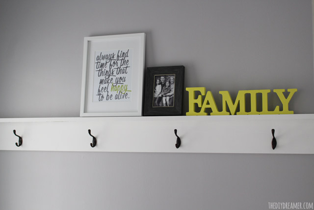 DIY Decorative Shelving with hooks