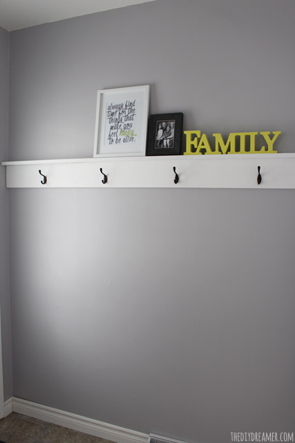 Diy Wood Shelving With Hooks