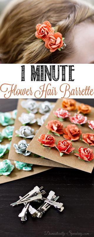 1 Minute Flower Hair Barrette