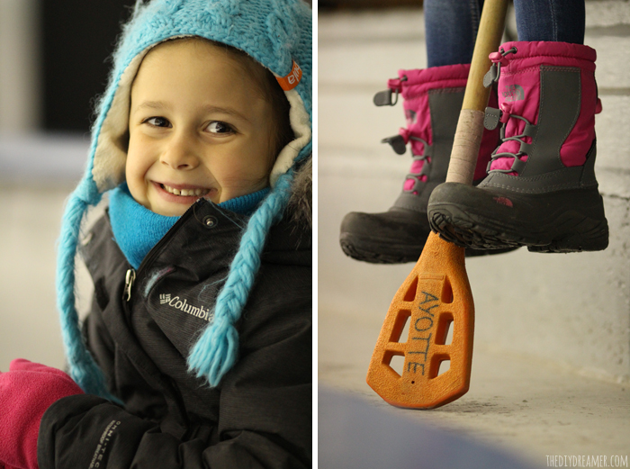 Die hard broomball fan. Broomball is a winter sport that is played on ice. Broomball equipment includes a broomball stick, ball, and special shoes to run on the ice.
