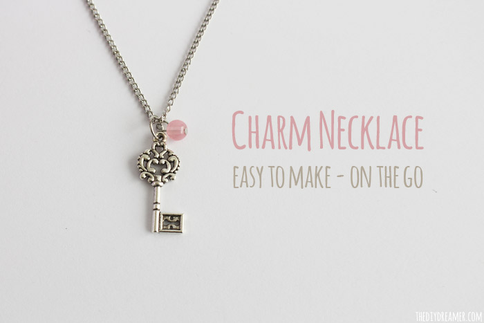 Charm necklace easy to make on the go charm necklace easy to make on the go easy jewelry tutorial aloadofball Gallery