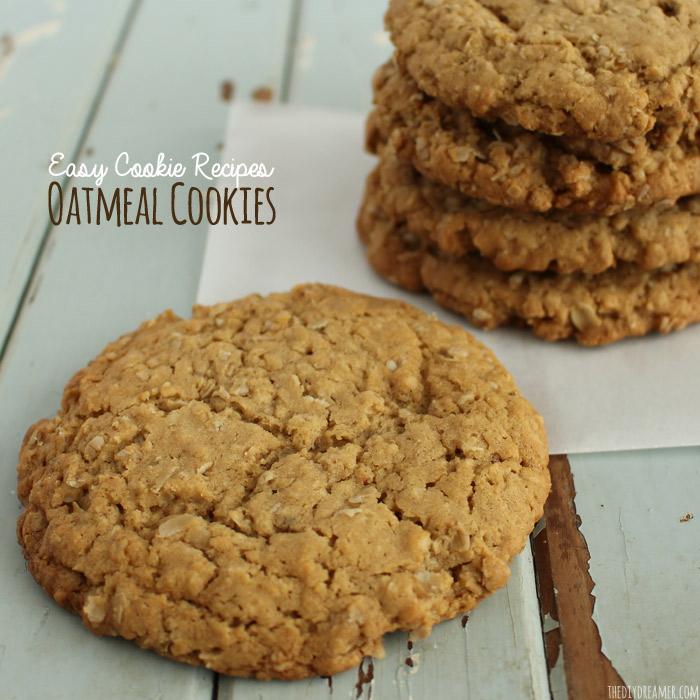Chewy Oatmeal Cookies. Easy Cookie Recipes!
