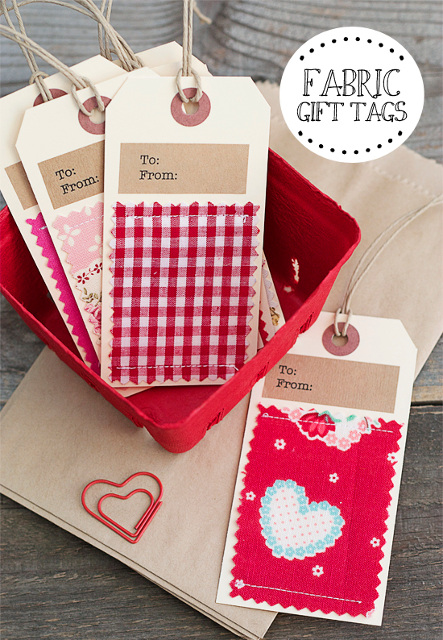 DIY Fabric Gift Tags! Fun Idea for Valentine's Day!