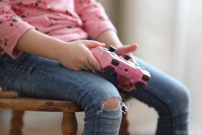 Favorite Things - Child playing video games.