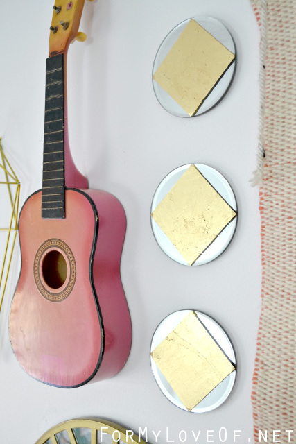 How To Gold Leaf: Mirror Wall Art
