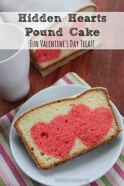 Hidden Hearts Pound Cake