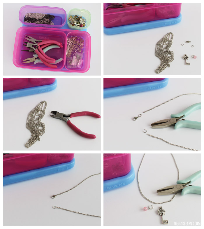 How to make jewelry - Charm Necklace Tutorial. Easy to make on the go! Easy jewelry tutorial.