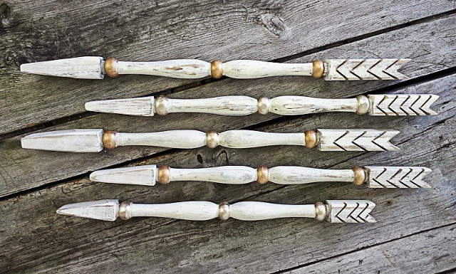 Porch Spindle Arrows