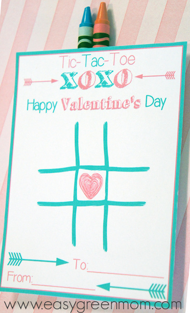 Tic Tac Toe Valentine's Day Card Printable