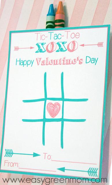 Tic Tac Toe Valentine's Day Card Printable