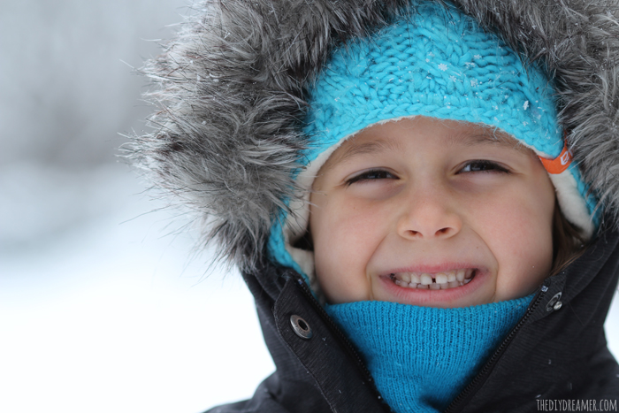 Favorite things - Winter portrait of a child.