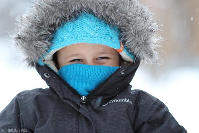 Winter portrait of a child.