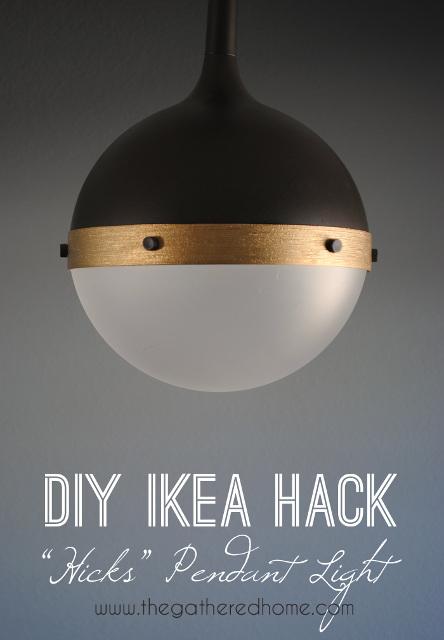 """DIY Ikea Hack """"Hicks"""" Pendant Light"""