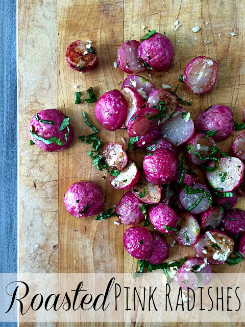 Roasted Pink Radishes